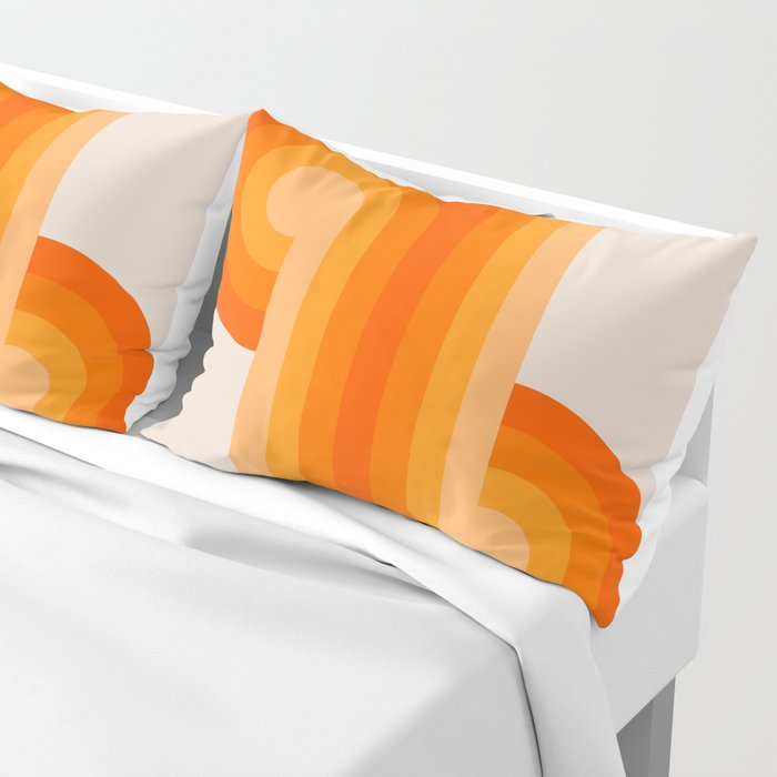 Creamsicle Knots Pillow Sham