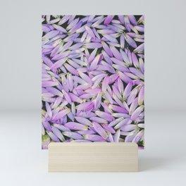 Purple Petal Pattern, Mirissa, Sri Lanka Mini Art Print