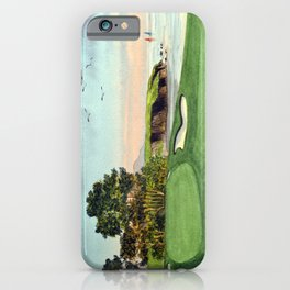 Pebble Beach Golf Course 5th Hole iPhone Case
