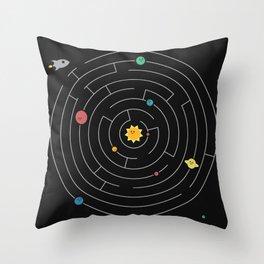 Planetary Maze Throw Pillow
