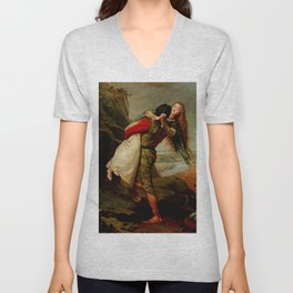 "John Everett Millais ""The Crown of Love"" Unisex V-Neck"