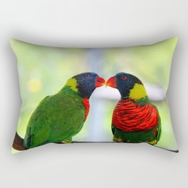 Rainbow Birds Rectangular Pillow