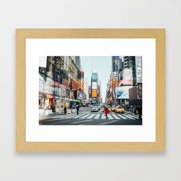 New York Bustle Framed Art Print