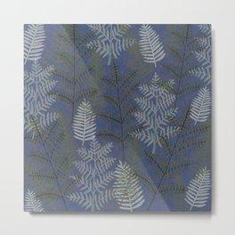 Ferns Slate Metal Print