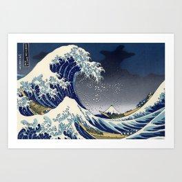 Great Wave: Kanagawa Night Art Print