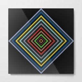 Colorful Geometric Pattern VI Metal Print