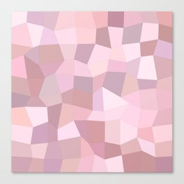 Pastel Pink Mosaic Canvas Print
