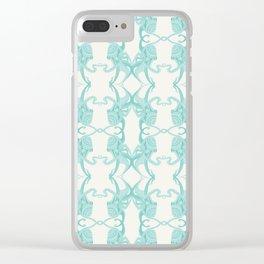 Blue Octacluar Octopus Clear iPhone Case