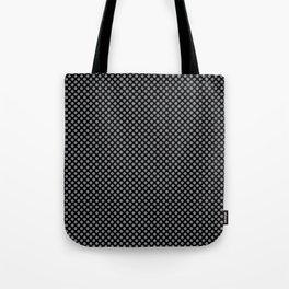 Black and Sharkskin Polka Dots Tote Bag