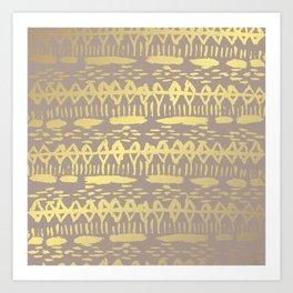 Golden Tribal Decor Art Print