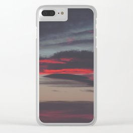 Beautiful image of the sky as night falls Clear iPhone Case
