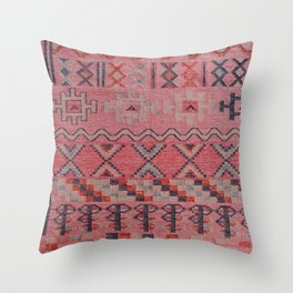 V21 New Traditional Moroccan Design Carpet Mock up. Throw Pillow