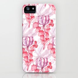 Vortex Floral Pattern from the Impossible Florals Series iPhone Case