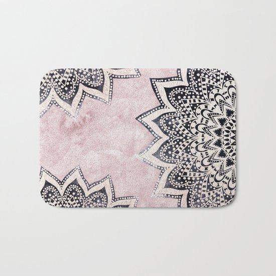 ROSE BOHO NIGHTS MANDALAS Bath Mat