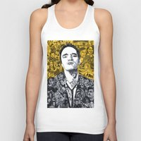 quentin tarantino Tank Tops featuring Tarantino by Matthew Brazier Illustration