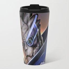 Garrus Vakarian Portrait - Mass Effect Travel Mug