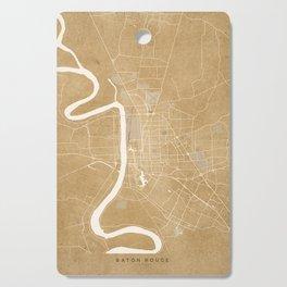 Vintage map of Baton Rouge Louisiana in sepia Cutting Board