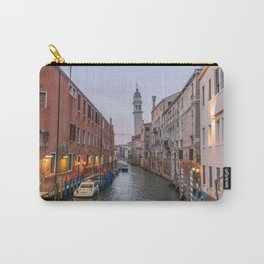Venice Italy Canal Photography, Travel Italy Wall Art, Venetian Canals at Dusk Home Decor Carry-All Pouch