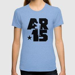 AR-15 (Silver/Black) T-shirt