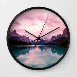 Peaceful Lake Wall Clock