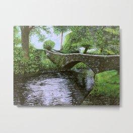 Stone Bridge River Metal Print