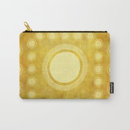 """""""Gold & Yellow Ethnic Sun (Pattern)"""" Carry-All Pouch"""