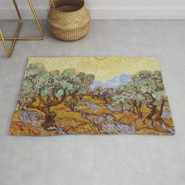 Vincent van Gogh - Olive Trees (1889) Rug