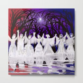 Midnight Prayers for the Living Sisters Metal Print