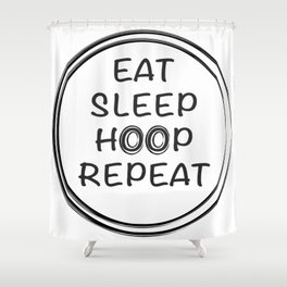 hula hoop design quote  Shower Curtain