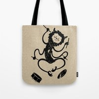 monster Tote Bags featuring Monster by Anya Volk