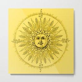 Fields of Beams - Yellow Supreme Metal Print