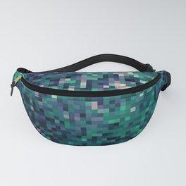 Indigo Green Pixel Ombre Fanny Pack