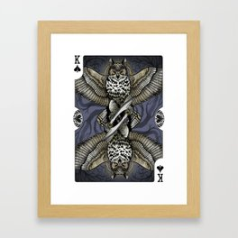 Owl Deck: King of Spades Framed Art Print
