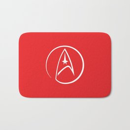 Heathen Trekkie - StarTrek 's Uhura Red Bath Mat