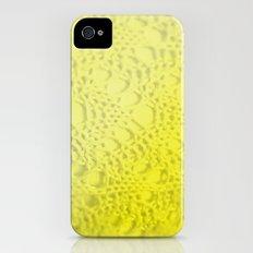 neon yellow ombre cotton crochet iPhone (4, 4s) Slim Case