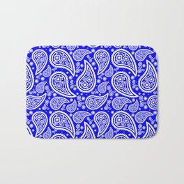 Paisley (White & Blue Pattern) Bath Mat