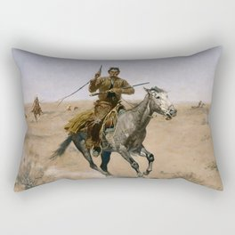 "Frederic Remington Western Art ""The Flight"" Rectangular Pillow"
