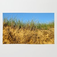 cape cod Area & Throw Rugs featuring Cape Cod Grass & Dunes by Tiffani Angelone