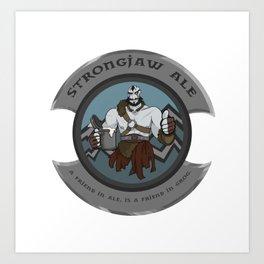 Strongjaw Ale Art Print