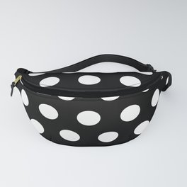 Black & White Polka Dots Fanny Pack