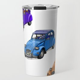 2cv pattern big Travel Mug