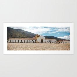 Main plaza of Villa de Leyva,Colombia Art Print