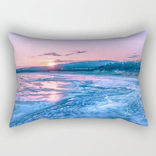 Baikal sunrise Rectangular Pillow