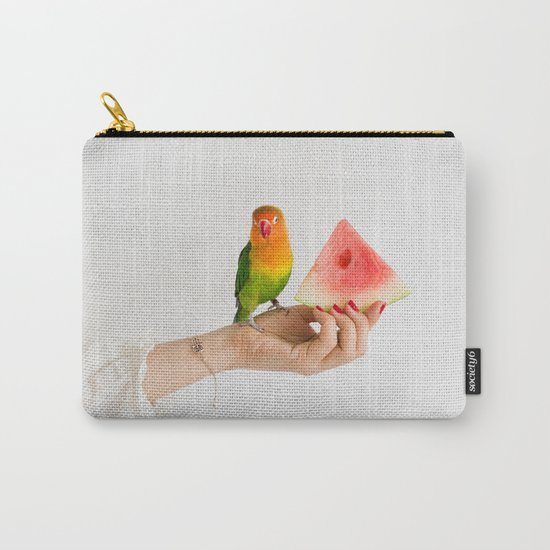 Parrot and watermelon Carry-All Pouch
