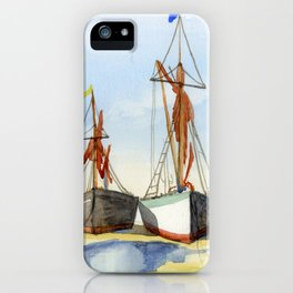 Boats Stranded on the Coast iPhone Case