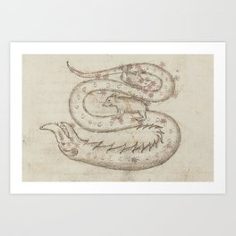 Basinio de Parma - Serpens, the Snake (1450s) Art Print
