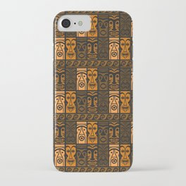 Sunset Orange Tikis! iPhone Case