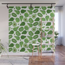Green fruits and vegetables Wall Mural