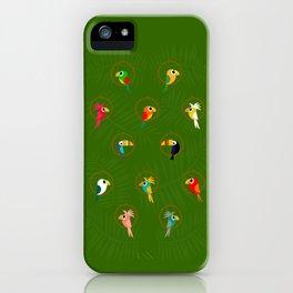 Tropical Hideaway Birds iPhone Case