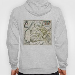 Vintage Map of Finland (1662) Hoody